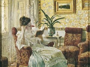 Woman Reading by Ricardo Lopez Cabrera