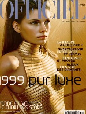 L'Officiel, December-January 1999 - Jayne Windsor by Ricardo Tinelli
