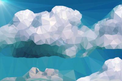 Clouds and Mountains Polygon Style by riccamal