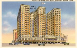 Rice Hotel, Houston, Texas