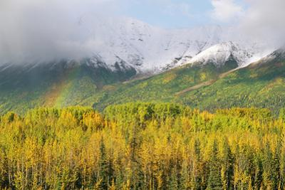 A Rainbow Arches over the Wrangell Mountains by Rich Reid