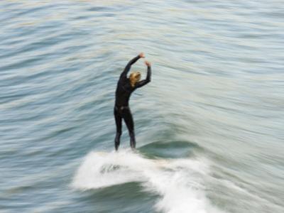 A Surfer at Refugio Point