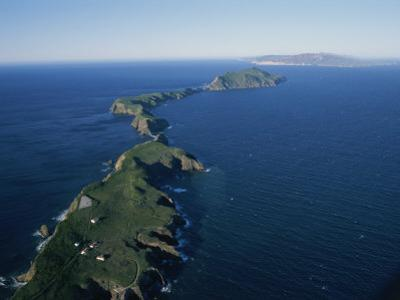 Aerial View of East Anacapa Island in the Channel Islands