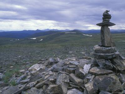 Cairn Off Top of the World Highway, Alaska