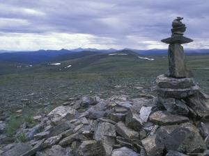 Cairn Off Top of the World Highway, Alaska by Rich Reid