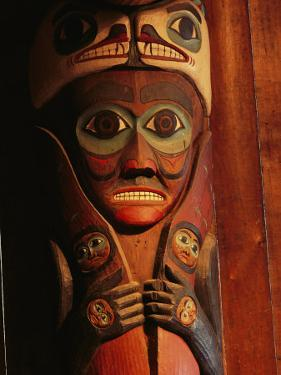Detail of House Post in the Totem Bight Clan House by Rich Reid