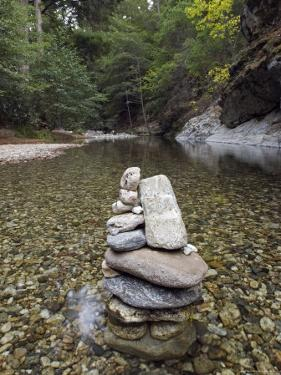 Low Clear Water on the Big Sur River at Sykes Hot Spring, California by Rich Reid