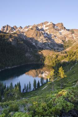 Lower Sardine Lake and Sierra Buttes from Tamarack Lakes Trail by Rich Reid