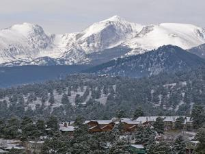 Rocky Mountain National Park from the Stanley Hotel in Estes Park by Rich Reid