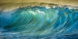 A Wave Breaks at Papohaku Beach on Molokai's West End by Richard A. Cooke