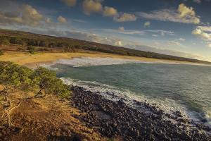 Aerial of Papohaku Beach, West Molokai, Hawaii by Richard A Cooke III
