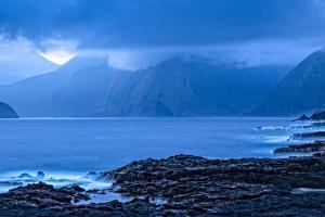 Sunrise Shoreline View Along Kalawao Looking to North Shore Cliffs, Molokai, Hawaii by Richard A Cooke III
