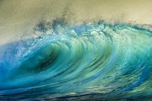 Wave Photo at Papohaku Beach, West End, Molokai, Hawaii by Richard A Cooke III