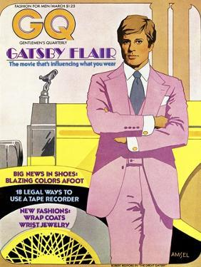 GQ Cover - March 1974 by Richard Amsel