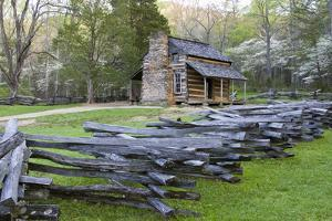 John Oliver Cabin in Spring, Cades Cove Area, Great Smoky Mountains National Park, Tennessee by Richard and Susan Day