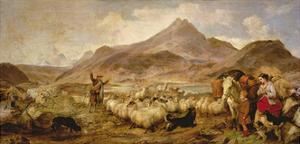 Drovers in Glen Sligichan, Isle of Skye, 1860 by Richard Ansdell
