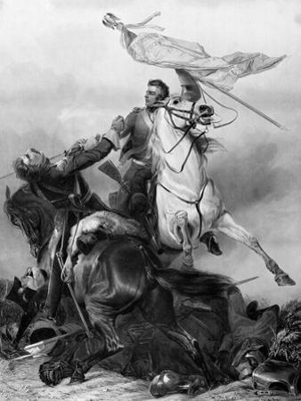 Fight for the Standard - Sergeant Ewart Capturing the Eagle of the French 45th Regiment at Waterloo