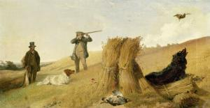 Shooting Partridge over Dogs by Richard Ansdell