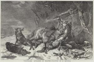 Traveller Attacked by Wolves by Richard Ansdell