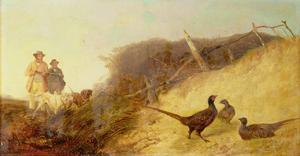 Walking Up Pheasants on the 1st of October (See also 63636) by Richard Ansdell