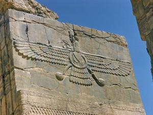 Ahura Mazda, Supreme God in Zoroastrianism, Persepolis, Unesco World Heritage Site, Iran by Richard Ashworth