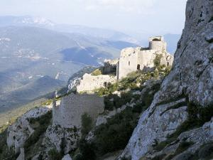 Cathar Castle of Peyrepertuse, Between Carcassonne and Perpignan, France by Richard Ashworth