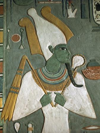 Detail from the Tomb of Horemheb, Valley of the Kings, Thebes, UNESCO World Heritage Site, Egypt