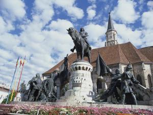 Equestrian Statue of Matyas Corvinus, Piata Uniri, Cluj, North West Transylvania, Romania by Richard Ashworth