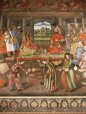 Mural Paintings, Chehel Sotoun, Isfahan, Iran, Middle East by Richard Ashworth
