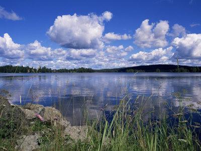 Summer, Lake at Ramen, North of Filipstad, Eastern Varmland, Sweden, Scandinavia