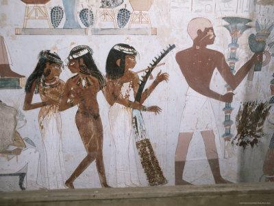 Tomb of Nakht, Valley of Nobles, Thebes, UNESCO World Heritage Site, Egypt, North Africa, Africa