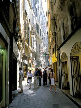 Via San Luca, in Old City of Genoa (Genova), Liguria, Italy by Richard Ashworth