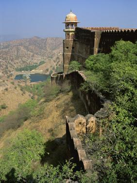 View from Walls of Jaigarh Fort, Amber, Near Jaipur, Rajasthan State, India by Richard Ashworth