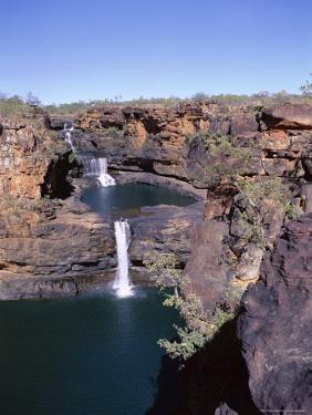 View of All Four Falls of the Mitchell Falls, Kimberley, Western Australia, Australia by Richard Ashworth