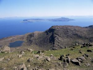 View to Isle of Eigg, from Hallival, Isle of Rum, Inner Hebrides, Scotland, United Kingdom by Richard Ashworth