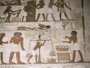 Wall Paintings, Tomb of Rehunire, Valley of the Nobles, Thebes, Unesco World Heritage Site, Egypt by Richard Ashworth