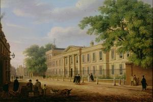 View of Emmanuel College, Cambridge University by Richard Bankes Harraden