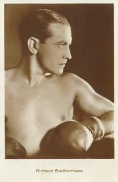 Richard Barthelmess with Boxing Gloves