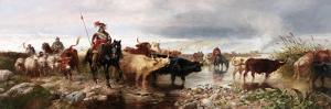 A Border Raid on an English Castle, 1880 by Richard Beavis