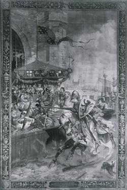 Solemn Joust on London Bridge, Late 15th Century by Richard Beavis