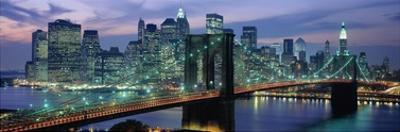 Brooklyn Bridge and Skyline by Richard Berenholtz