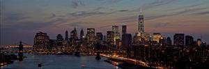Lower Manhattan at dusk by Richard Berenholtz