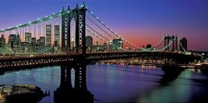Manhattan Bridge and Skyline II by Richard Berenholtz
