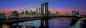 Manhattan Bridge and Skyline III by Richard Berenholtz