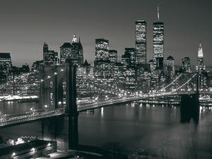 Manhattan Skyline at Night by Richard Berenholtz