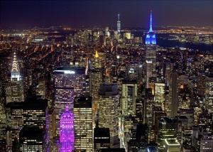 Midtown and Lower Manhattan at night by Richard Berenholtz