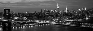 Midtown Manhattan and Williamsburg Bridge by Richard Berenholtz