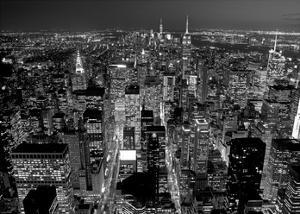 Midtown Manhattan at night by Richard Berenholtz