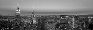Midtown Manhattan at Sunset, Black and White by Richard Berenholtz