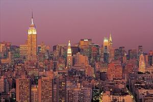 Sunset Over Manhattan by Richard Berenholtz